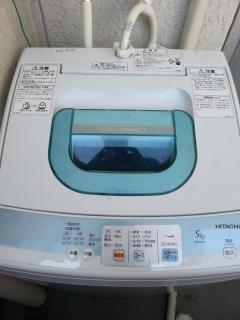 laundry machine on the balcony