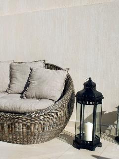 Outdoor bamboo sofa