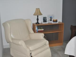 Reading area in the master bedroom