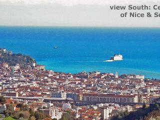 Seaview Panoramavilla near Nice Centre-Heated pool