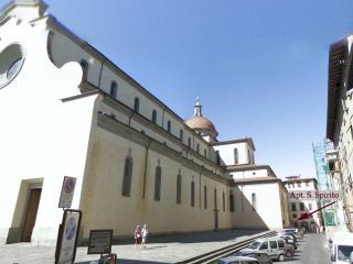 VERY behind Basilica Santo Spirito