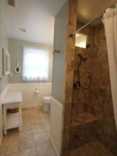 New Bathroom! Tiled shower.