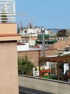 The Sagrada Familia, as seen form our terrace