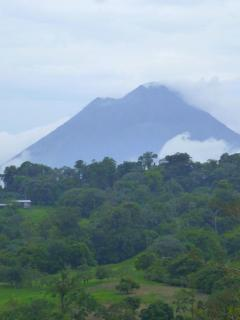 The view of the volcano Arenal from the wrap around porch.