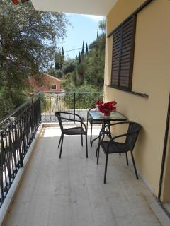 Upper floor apartment balcony