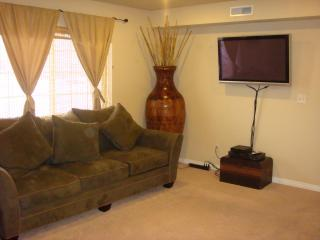 comfortable living room furniture with flat screen TV