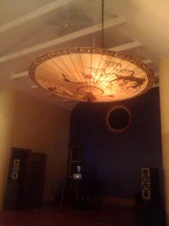 6 foot Chinese umbrella over diing table
