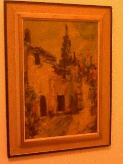 Painting from BELGIUM 'Dorp'' in second bedroom