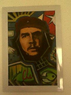 Painting from CUBA - ''Che Guevara'' in the kitchen