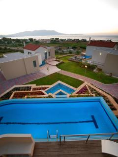 The swimming pool and the sea view