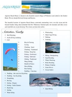 aquarius activities