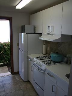 refrigerator with freezer and just open the door while cooking for a great ocean view.