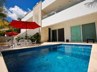 2 BR beachfront condo with a private pool - AC, Wifi, Kayaks
