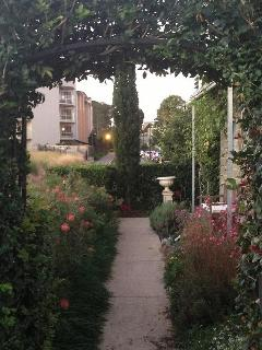 The garden path and view to Bond University