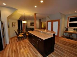 Kitchen, living and dining area in carriage House