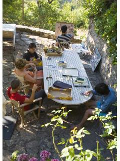 Big outside table on terrace