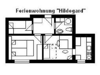 Apartment, 2 bedrooms (3-5 persons), Usingen