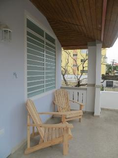 2nd fl Big Breezy Balcony w/ lounging adirondack chairs, 3 hammocks to hang out on...