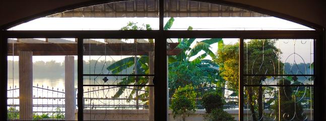 The view of the Mekong from one of our two large guest rooms