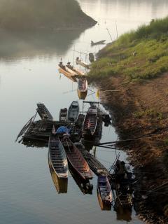 Boats at Phon Phisai
