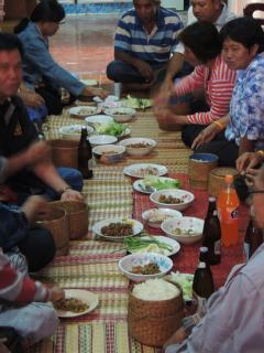 Eating Isaan style NE Thailand