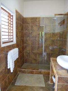 Master bathroom #2 also has outdoor shower