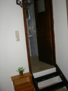 Small bathroom inside the house