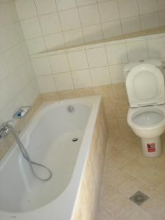 Bathroom next to the pool