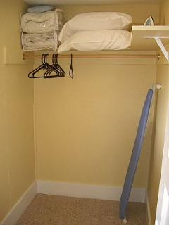 Bedroom's walk-in closet