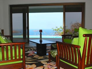 view of Pacific from the open living room