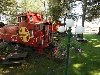 Sleep in an authentic vintage caboose