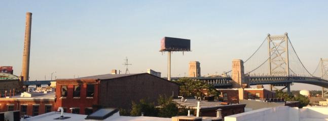 Benjamin Frank Bridge view from roofdeck (daytime)