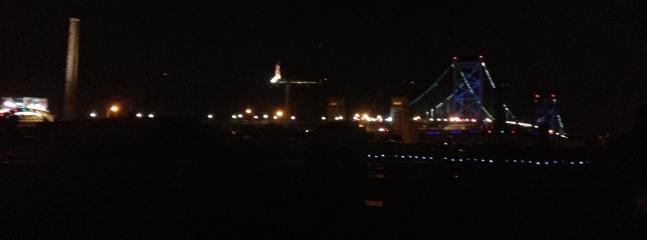 Bridge view from roof deck (night time)