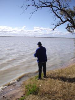 Fishing at the Menindee Lakes