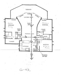 Condo floor layout.