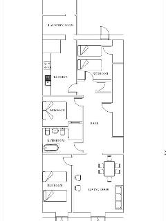 An scheme of the apartment