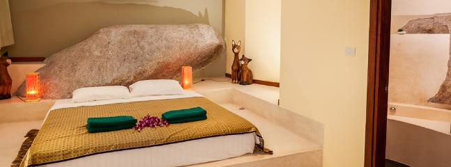 Exquisitely created Rock Bedroom