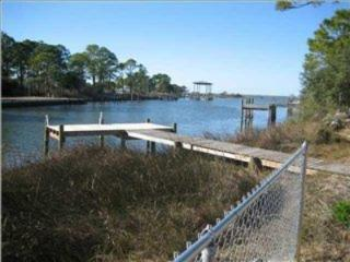 Single level home with private dock, St George Island