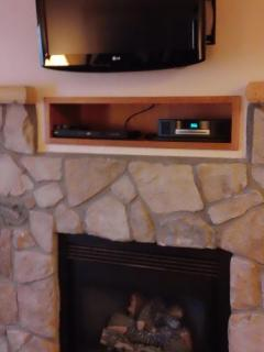 Fireplace/Television in Living Room
