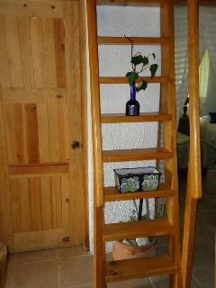 Casa Tilostoc - stair to the mezzanine - NOT PART OF THE RENTING AGREEMENT
