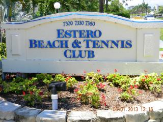sign at the entrance to the condo property