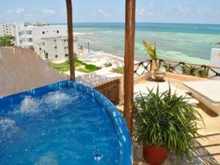 Mayan Tides Condo in Puerto Morelos,6 guests!