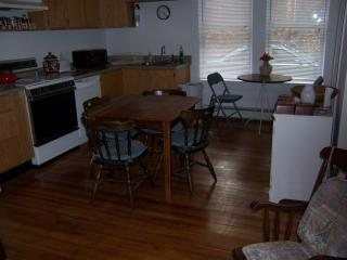 kitchen from center area (3 rooms apartment) + bathroom