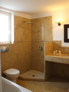 Bathroom No.1, with a bath and a built in shower