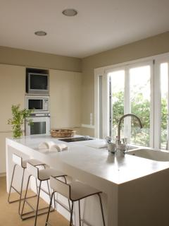 Our ultra modern white kitchen.