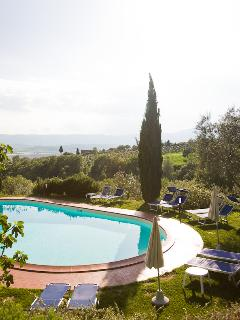 View of the swimming pool and view
