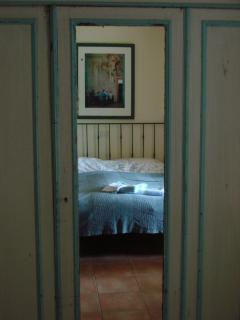 One of the bedrooms of apartment Città della Pieve