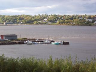 Pictou Landing Harbour can be easily reach in a 10 minute walk.