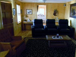 theatre style recliners in living room