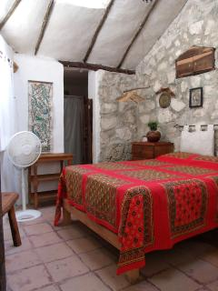Room #2 at Casitas Kinsol Guest House - a small room with one Double Bed - Private bath -
